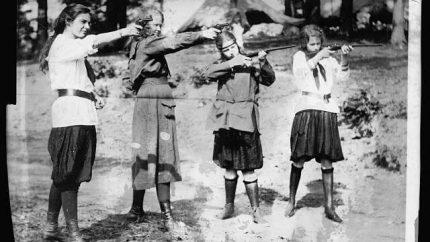 Girlscouts Shooting Guns